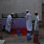 Members Arrange and Distribute Water Bottles