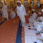 Members Distribute Water Bottles Before Namaz