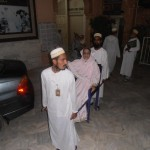 Members Carrying Aged Person to Masjid At Lailatul Qadar
