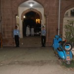 Scout Group Perform Duty at Adam Masjid Main Gate