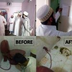 Survey of mumineen houses, pasting card inside the Baitul Kahla, remove western toilet
