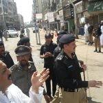 Mulla Mansoor Jack with I.G sindh A.D. Khawaja in Moharram 1439 at Taheri Masjid checking Security measures