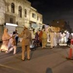Road Crossing in night majlis at jamaat khana